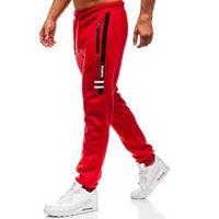 Red fireball Spodnie męskie dresowe joggery czerwone denley 80530