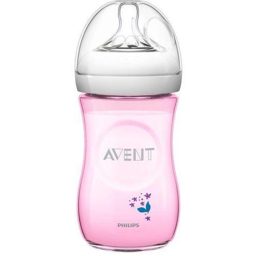 Avent Butelka dla niemowląt natural 260 ml - różowy (8710103739142)