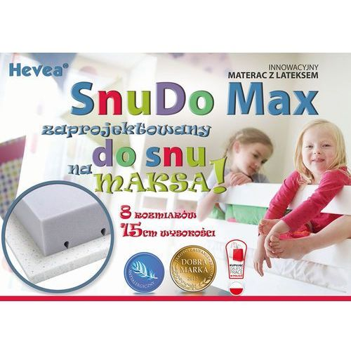 Materac wysokoelastyczny  snudo max 200x100 + poduszka 45x45 gratis!! marki Hevea