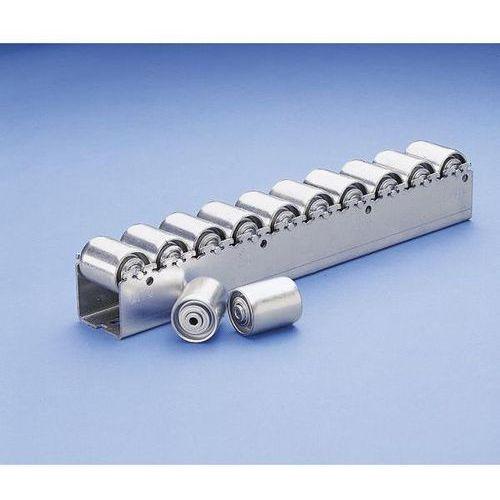 Bito-lagertechnik Ciężka listwa toczna ze stalowymi rolkami cylindrycznymi o Ø 45 mm, podział role