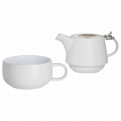 - tint - zestaw tea for one, biały - biały marki Maxwell & williams