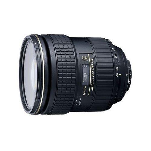 af 24-70mm f/2,8 at-x pro fx (nikon) - przyjmujemy używany sprzęt w rozliczeniu | raty 20 x 0% marki Tokina