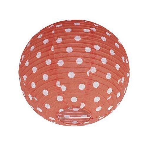 Kula papierowa BAOJI 36 x 30 cm tkanina czerwona w białe kropki E27 INSPIRE