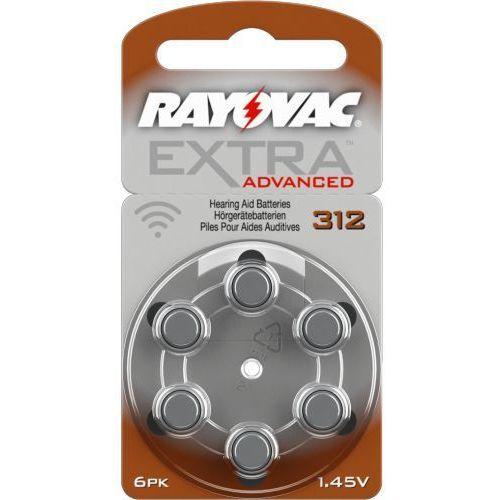 6 x baterie do aparatów słuchowych extra advanced 312 mf marki Rayovac