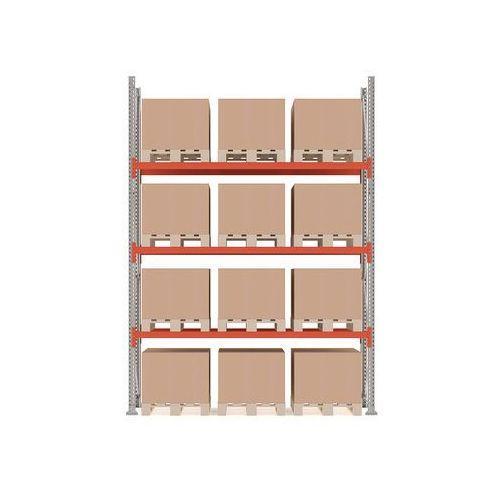 Regał paletowy ultimate, moduł podstawowy, 4000x2750x1100 mm, 12 palet marki Aj produkty
