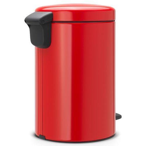 Kosz na śmieci 5 litrów NEW ICON Brabantia stal szlachetna czerwona (8710755112089)