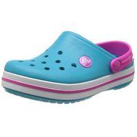 Crocs Kids Crocband Surf Neon Magenta Turkusowo-różowe klapki dla dzieci Różne rozmiary, kolor niebieski