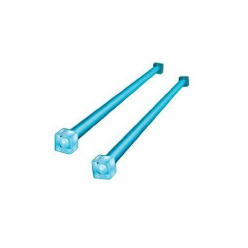 Zestaw czterech lamp neonowych Akasa AK-188-BL, 31 cm, niebieskie, AK-188-BL