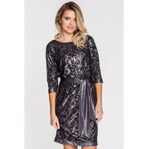 Vito vergelis Wizytowa sukienka z połyskującymi elementami -