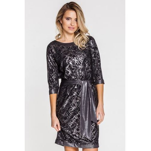 Wizytowa sukienka z połyskującymi elementami - Vito Vergelis