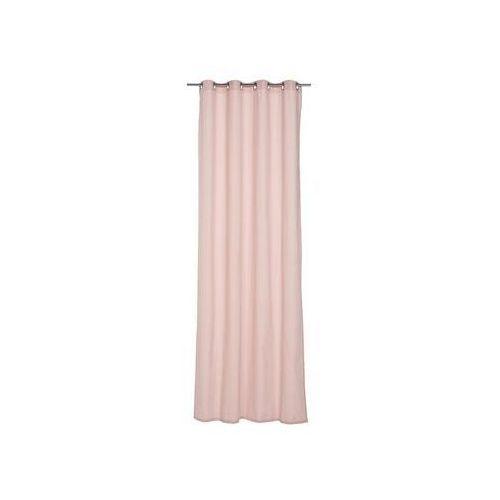 Zasłona gotowa ELEMA kolor Różowy 140 x 280 cm Kółka 205 g/m² INSPIRE