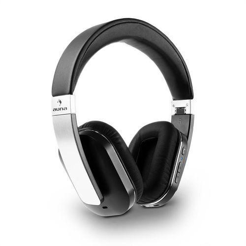 auna Elegance słuchawki Bluetooth NFC baterie imitacja skóry aluminium apt-X Zamów ten produkt do 21.12.16 do 12:00 godziny i skorzystaj z dostawą do 24.12.2016