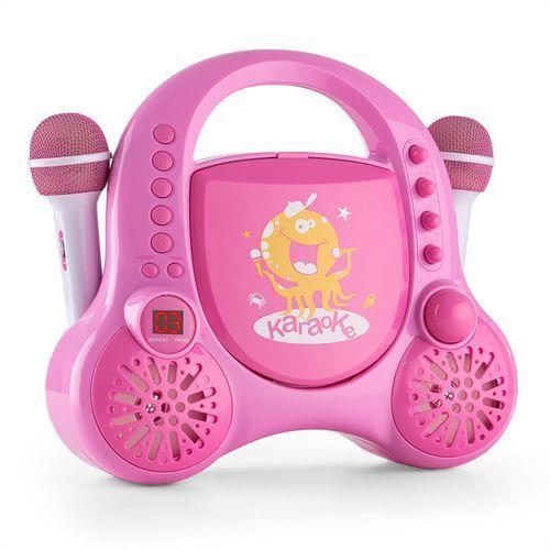 Auna rockpocket-a pk karaoke dla dzieci 2 mikrofony akumulator rozowy