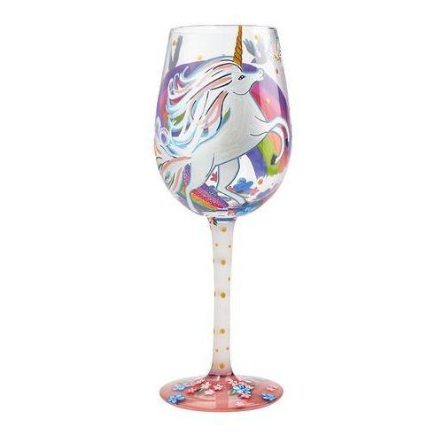 Kieliszek do wina Jednorożec artystki Lolita figurka kieliszek wino jednorożec tęcza