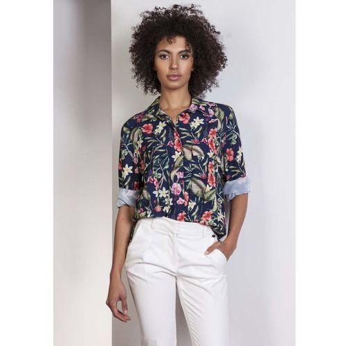 Koszula oversize z kieszeniami w kwiaty, Lanti, 36-42