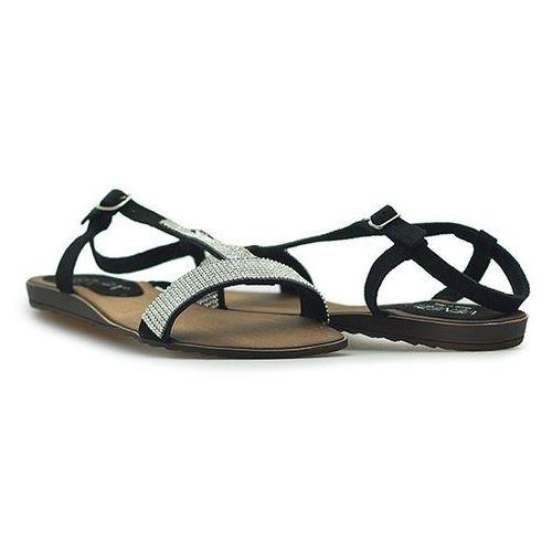 Sandały 1877 cro nero czarne zamsz marki Venezia
