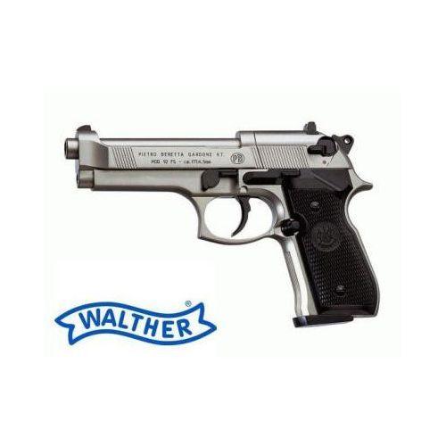 Wiatrówka Beretta 92FS Nikiel Full Metal na Śruty 4,5mm (napęd Co2/12g.).