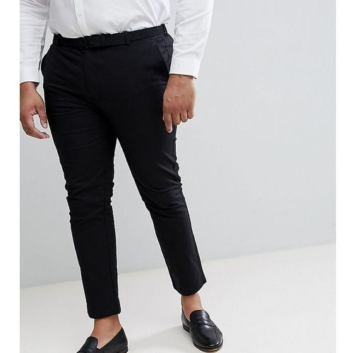Burton menswear plus slim chino in black - black