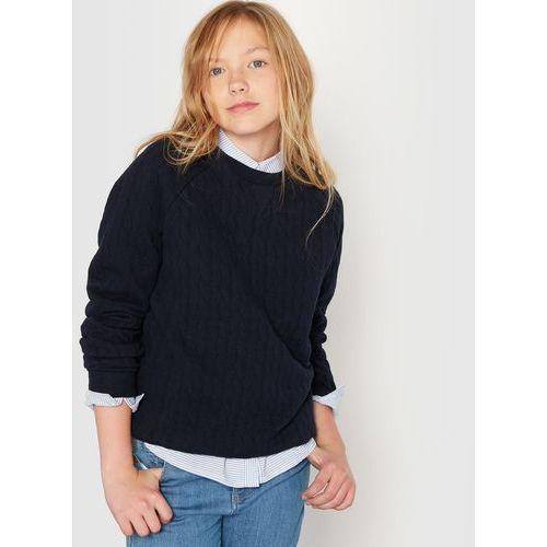 Bluza z moltonu z wytłaczanymi warkoczami 10-16 lat z kategorii Bluzy dla dzieci