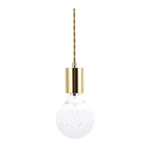 Beliani Lampa wisząca złota/przezroczysta szklana anza