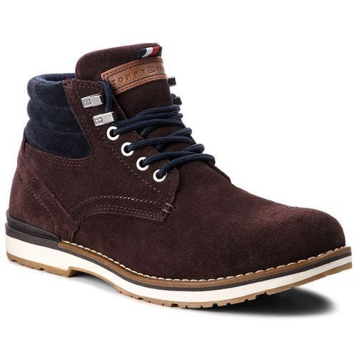 Tommy hilfiger Trapery - outdoor suede boot fm0fm01748 coffee bean 212