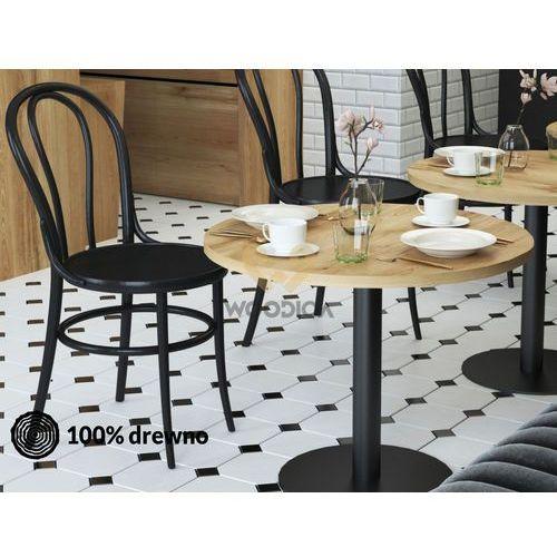 Stolik dębowy kawowy/barowy/restauracyjny Kaw02 okrągły 90x75x90