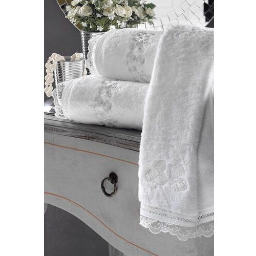 Zestaw podarunkowy małych ręczników LUNA, 3 szt Biały