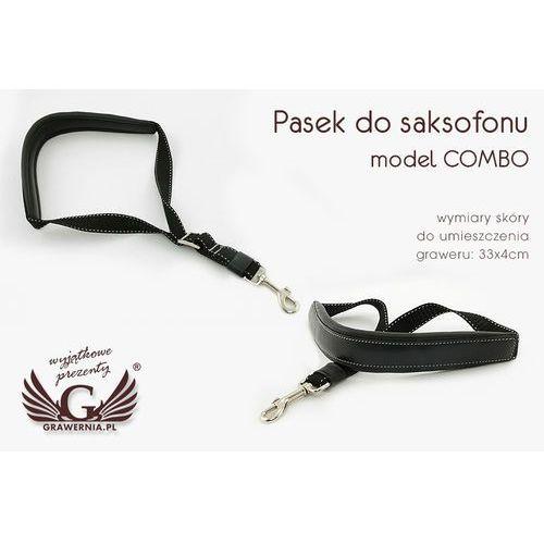Grawernia.pl - grawerowanie i wycinanie laserem Pasek do saksofonu czarny - model: combo - wersja komfort - pds18