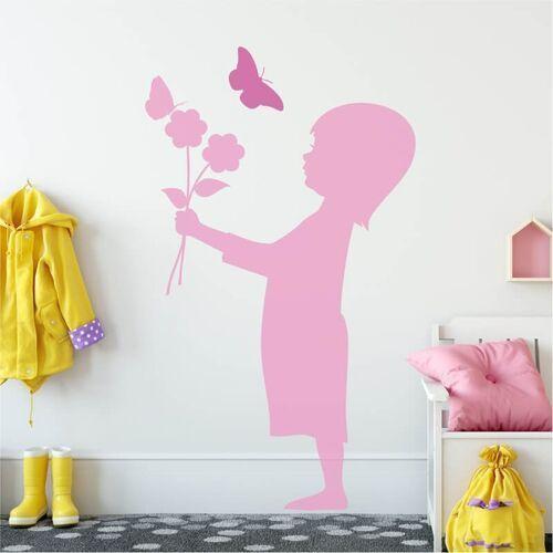 Szablon malarski dziewczynka z motylkiem 2140 marki Wally - piękno dekoracji