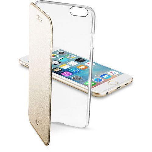 Cellular Line Etui Clear Book do Apple iPhone 6, Złote (CCLEARBOOKIPH647H) Darmowy odbiór w 19 miastach!, CCLEARBOOKIPH647H