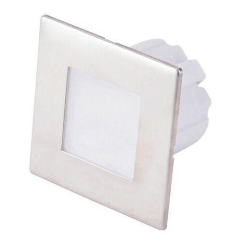 Dpm Lampa schodowa led 1,2 w 4000 k ip20 kwadratowa stal nierdzewna (5906881206683)