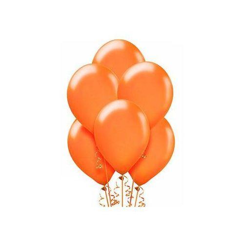 Belball Balony lateksowe metaliczne średnie - pomarańczowe - 100 szt.
