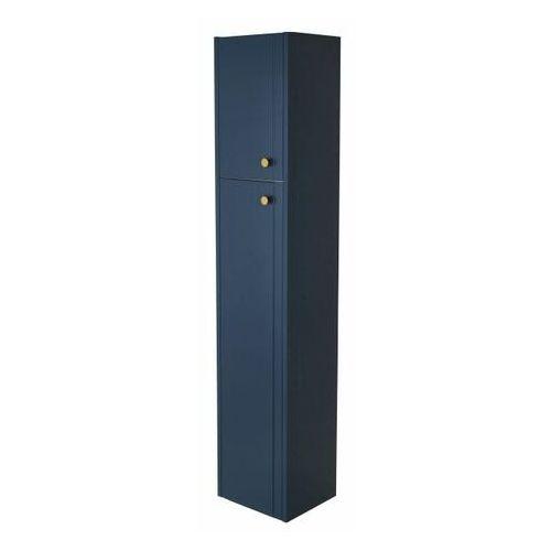 Słupek łazienkowy wysoki Mirano Azzura 30 cm granatowy, kolor niebieski