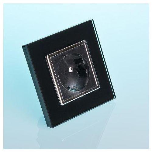 Livolo Vl-w01eu-bc gniazdo elektryczne 16a z czarnego szkła krystalicznego