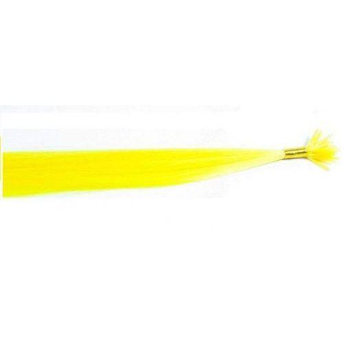 Włosy na zgrzewy syntetyczne - kolor: #yellow - 20 pasm marki Longhair