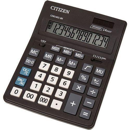 Kalkulator biurowy CITIZEN CDB1401-BK Business Line, 14-cyfrowy, 205x155mm, czarny (4562195139249)