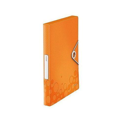 Leitz Teczka z gumką  wow a4, 30mm metaliczna pomarańczowa 46290044
