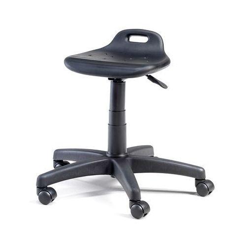 Stołek warsztatowy TAMBO, 395-525 mm, czarny poliuretan, 21133