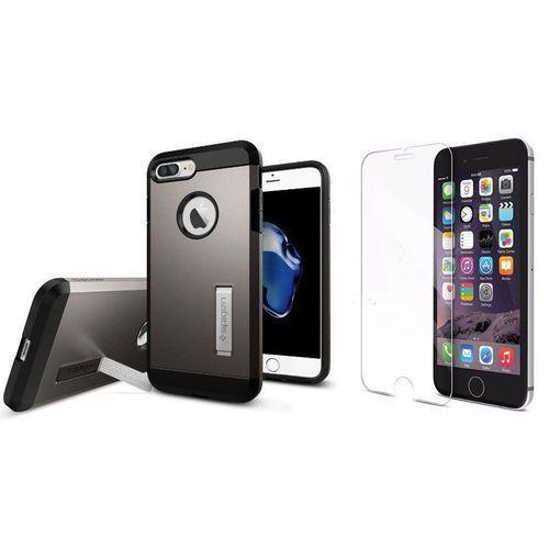 Zestaw | Spigen SGP Tough Armor Gunmetal | Obudowa + Szkło ochronne Perfect Glass dla modelu Apple iPhone 7 Plus