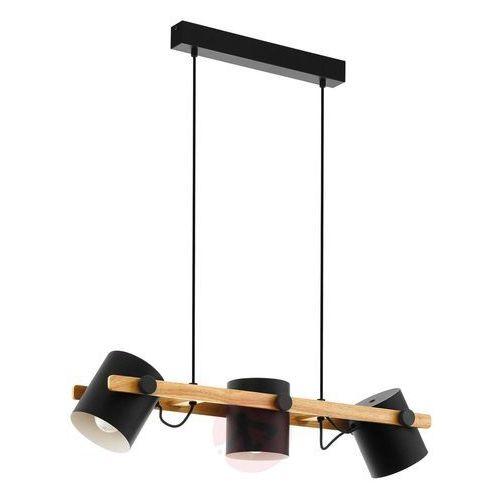 Lampa wisząca Hornwood z detalami drewnianymi (9002759430450)