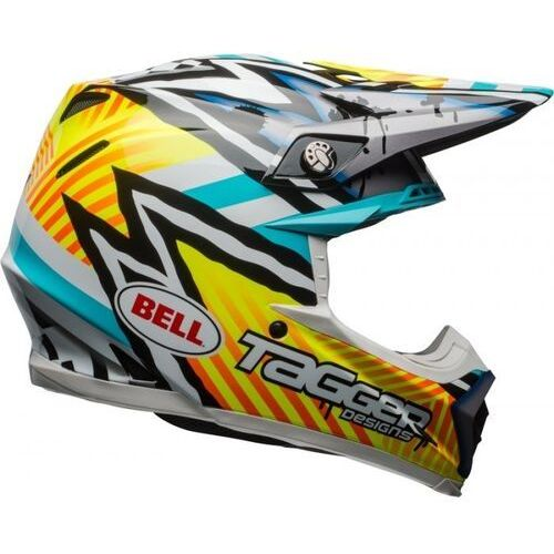 Bell_sale Bell moto-9 tagger yellow/blue/white kask off-road