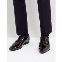 lace up derby shoes in burgundy high shine - red, Dune