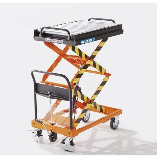 Przenośnik, do dł. x szer. platformy 900x600 mm, Ø rolki 50 mm. D pracy z ciężki
