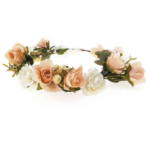 Wianek róże peonie biały brzoskwinia - biały brzoskwinia marki Iloko