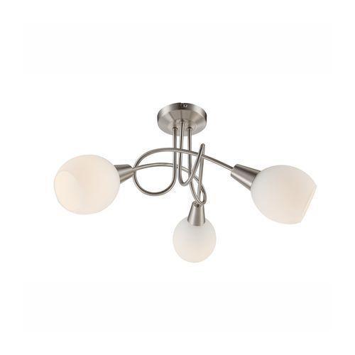 Plafon lampa oprawa sufitowa Globo Elliott 3x4W E14-LED satyna/matowy chrom 54351-3