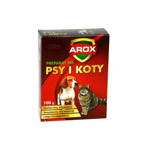 Środek odstraszający koty i psy. Preparat na koty i psy. AROX. (5902341009573)