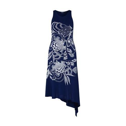 Desigual Sukienka 'VEST_WAKIUT' ciemny niebieski / biały