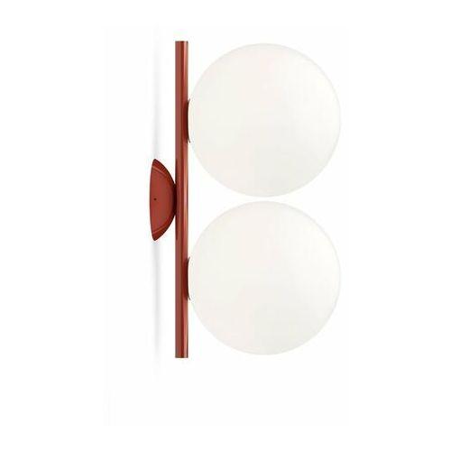Flos Ic-kinkiet ścienny lub plafon 2-punktowy metal/szkło