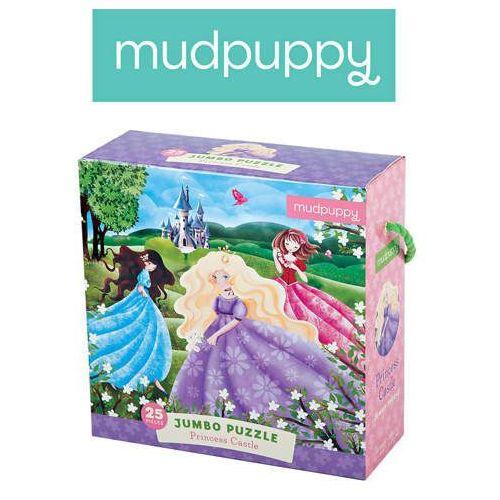 - puzzle podłogowe jumbo zamek księżniczki 25 elementów 2+ marki Mudpuppy