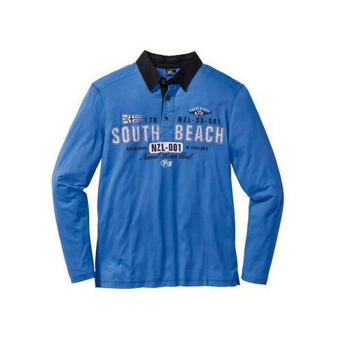 Bonprix Shirt polo z długim rękawem regular fit  lodowy niebieski